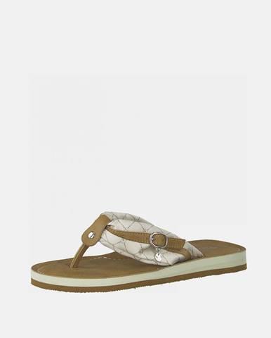 Krémové papuče Tamaris