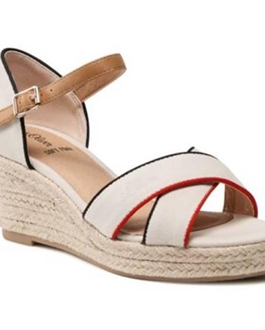 Béžové sandále s.Oliver RED LABEL