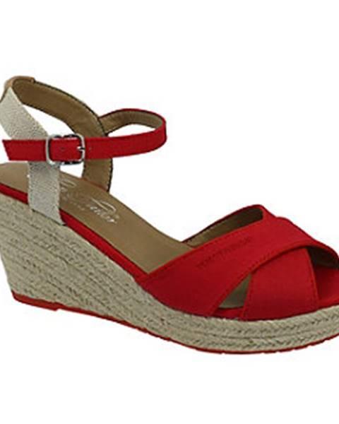 Červené sandále Tom Tailor