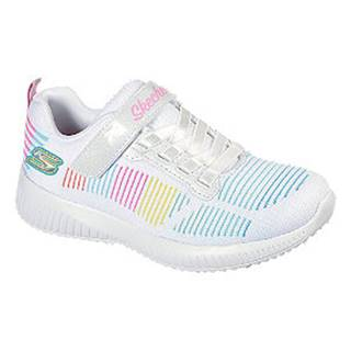 Biele tenisky na suchý zips Skechers