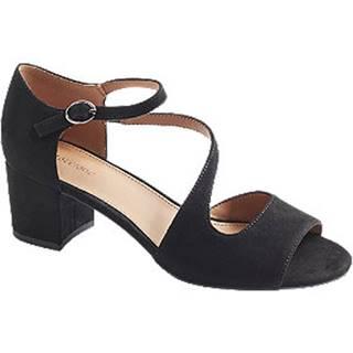 Čierne sandále na podpätku Graceland