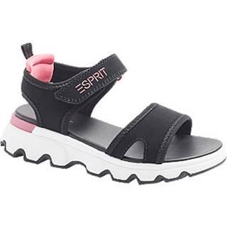 Čierne sandále na suchý zips Esprit