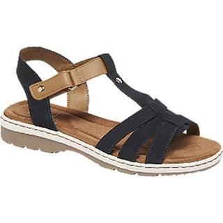 Modro-hnedé komfortné sandále Easy Street