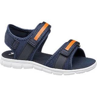 Tmavomodré sandále na suchý zips Vty