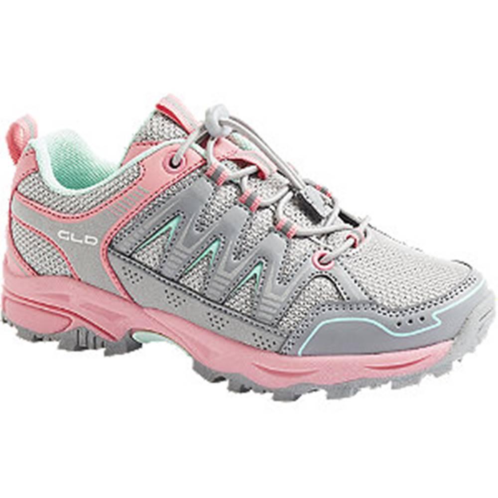 Vty Sivo-ružová outdoorová slip-on obuv Vty