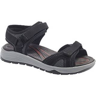 Čierne komfortné sandále na suchý zips Easy Street