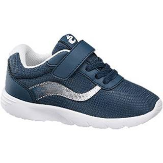 Tmavomodré tenisky na suchý zips Bobbi Shoes