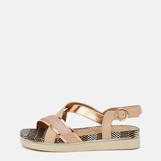 Sandále pre ženy Wrangler - zlatoružová