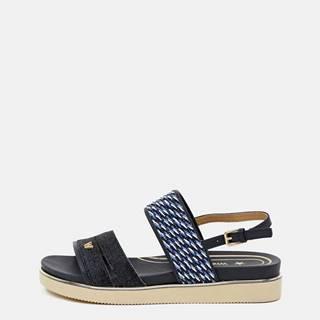 Tmavomodré dámske vzorované sandálky Wrangler