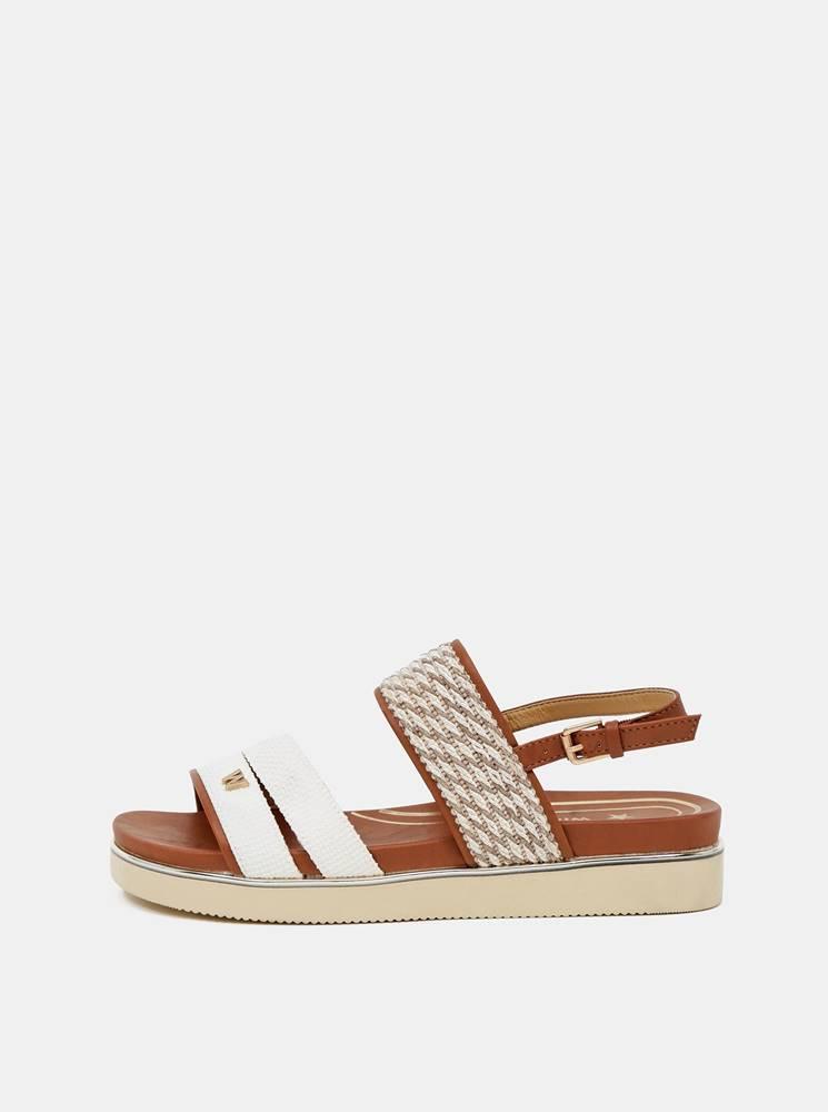 Wrangler Hnedo-béžové dámske vzorované sandálky Wrangler