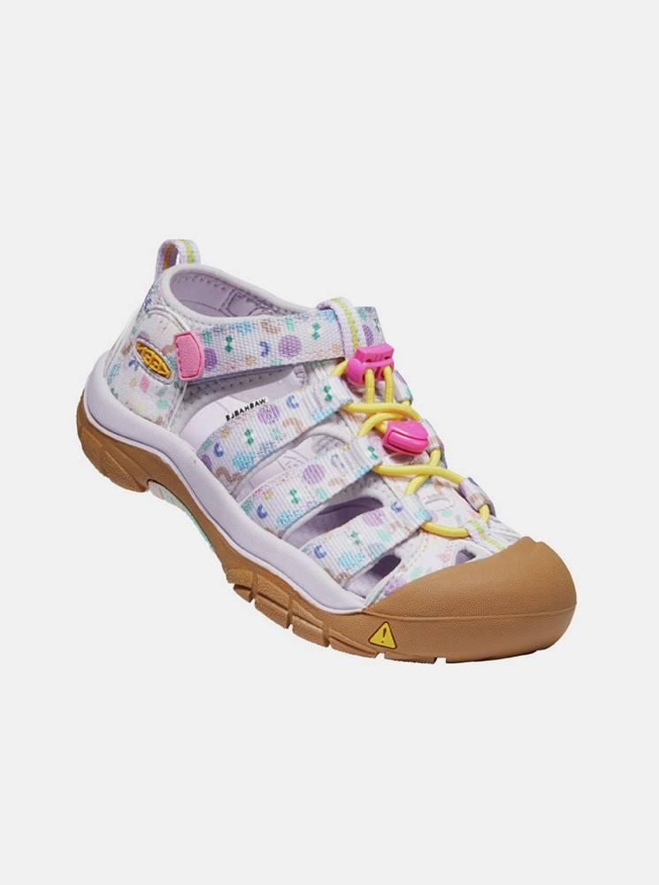 Keen Ružové dievčenksé vzorované sandále Keen