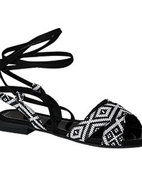 Čiernobiele sandále Catwalk
