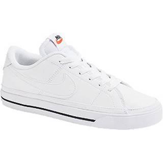 Biele kožené tenisky Nike Court Legacy