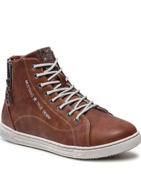 Hnedé topánky Mustang