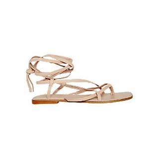 Béžové kožené sandále