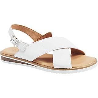 Biele sandále 5th Avenue