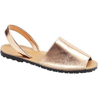 Zlatoružové kožené sandále