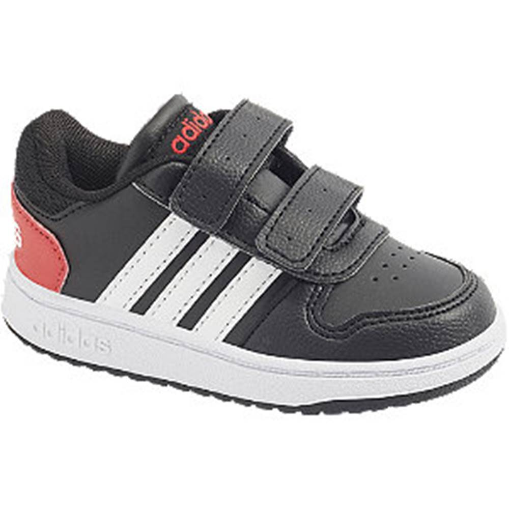 adidas Čierne tenisky na suchý zips Adidas Hoops 2.0 CMF I