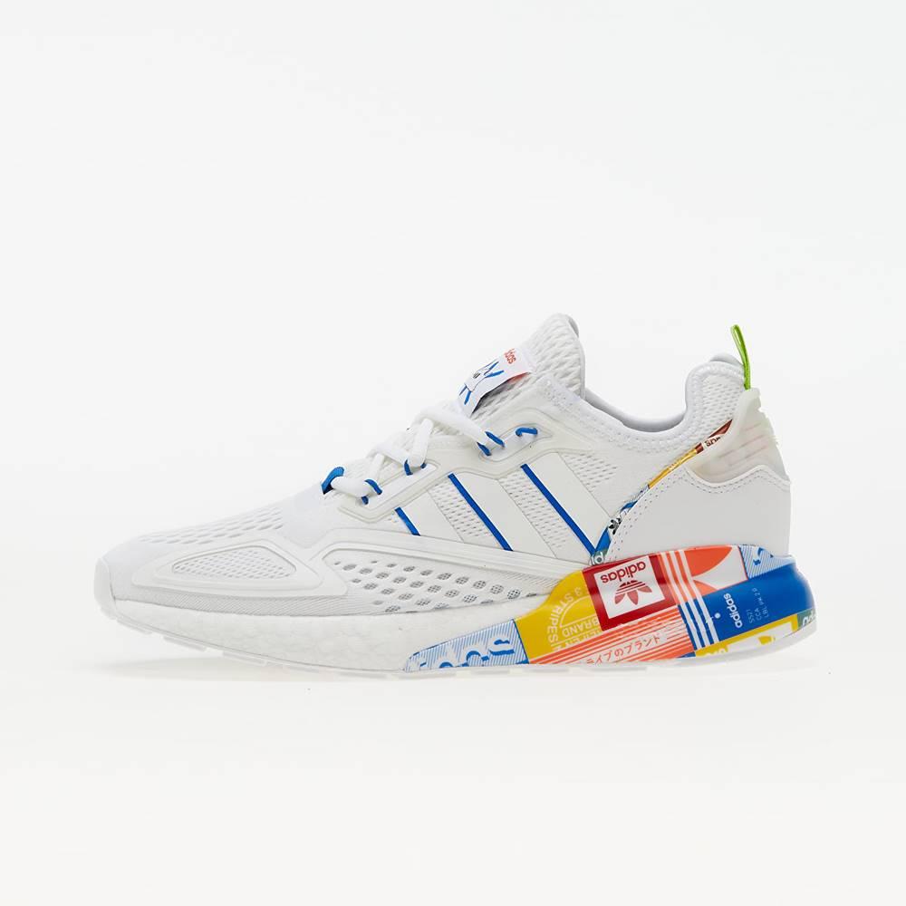adidas Originals adidas ZX 2K Boost Ftw White/ Blue/ Orange