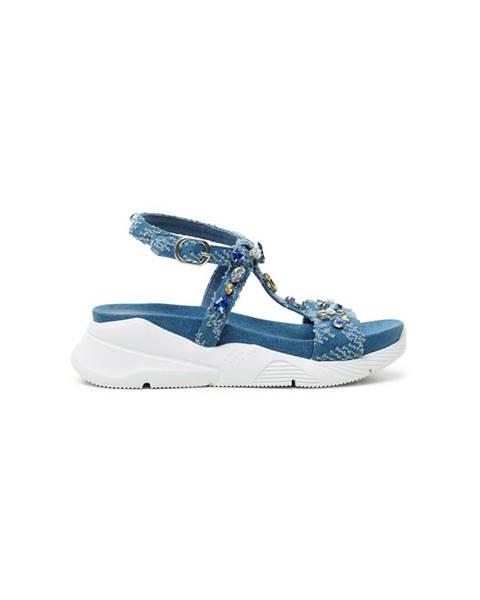 Modré sandále Desigual