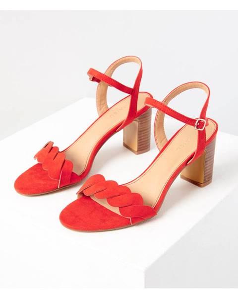 Červené topánky CAMAIEU