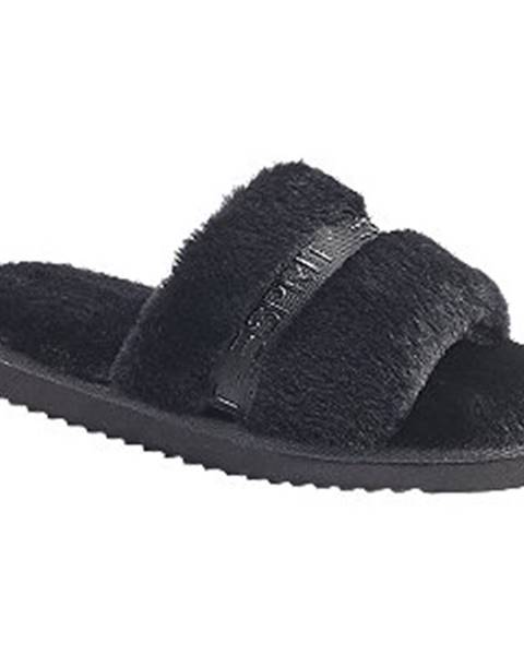 Čierne papuče Esprit