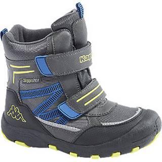 Tmavosivá členková obuv na suchý zips s TEX membránou