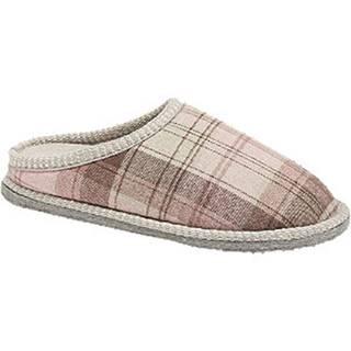 Hnedo-ružové papuče