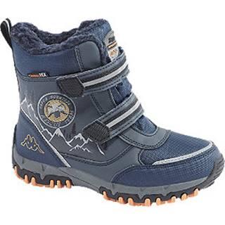 Tmavomodrá členková obuv na suchý zips s TEX membránou