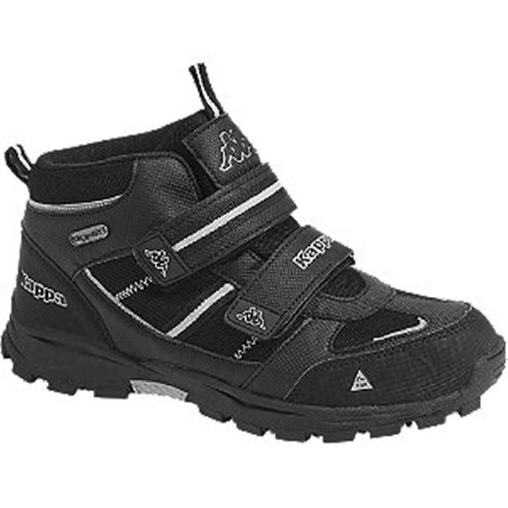 Kappa Čierna členková obuv na suchý zips s TEX membránou