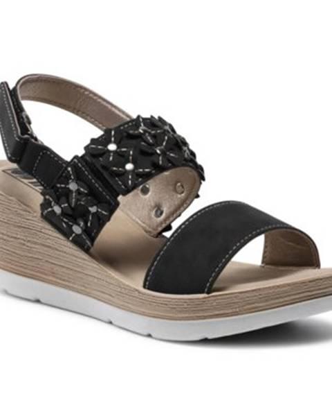 Čierne sandále INBLU