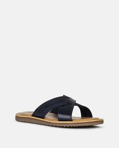 Tmavomodré sandále Geox
