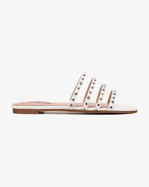 Biele papuče Guess