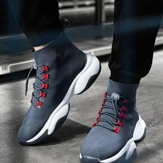 Pánske sneakers topánky T355 - sivá
