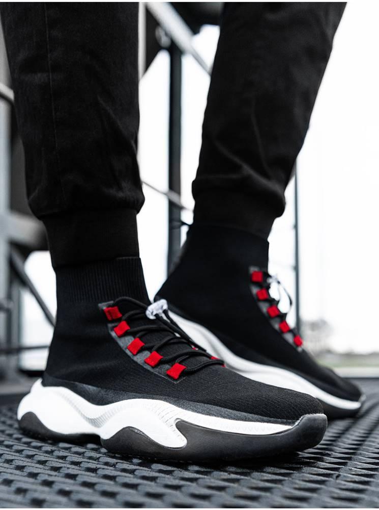 Ombre Clothing Pánske sneakers topánky T355 - čierna