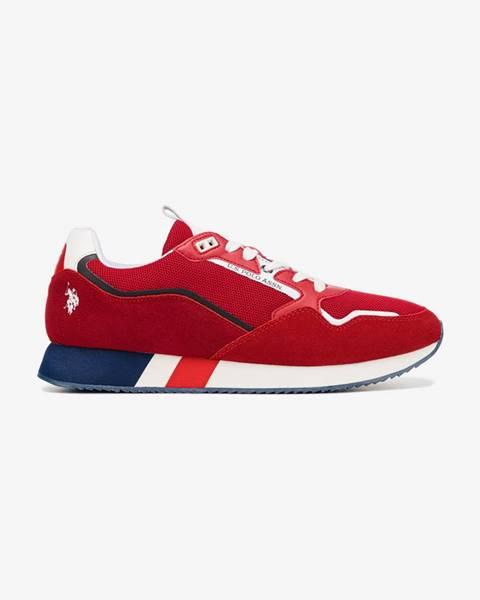 Červené tenisky U.S. Polo Assn.