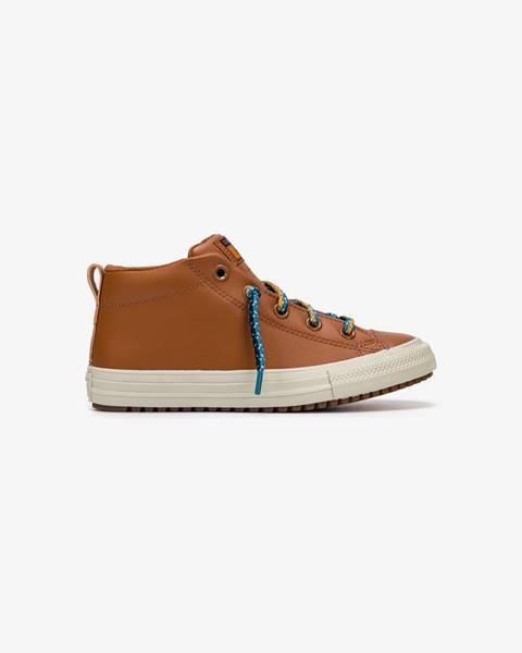 Hnedé topánky Converse