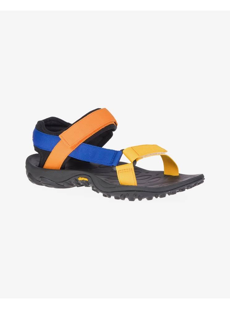 Merrell Sandále, papuče pre mužov  - modrá, zlatá