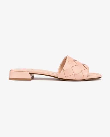 Béžové papuče Högl