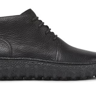 Topánky  Ground Black Ankle Boots