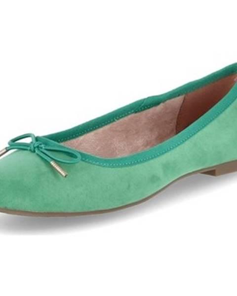 Zelené balerínky Tamaris