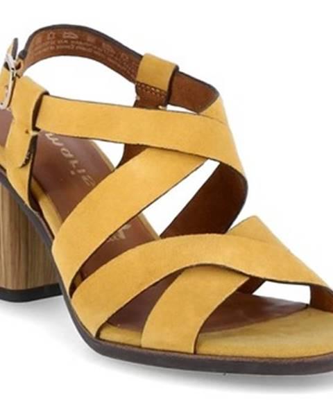 Žlté sandále Tamaris