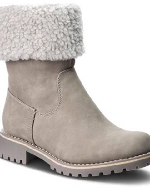 Svetlošedé topánky Clara Barson