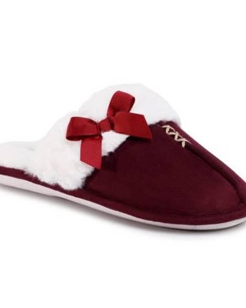 Bordové papuče Home&Relax