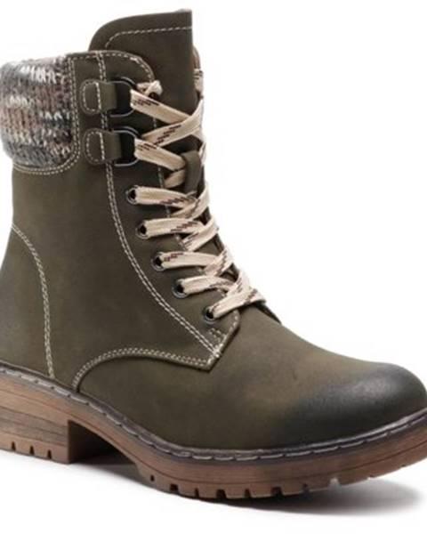 Khaki topánky Clara Barson