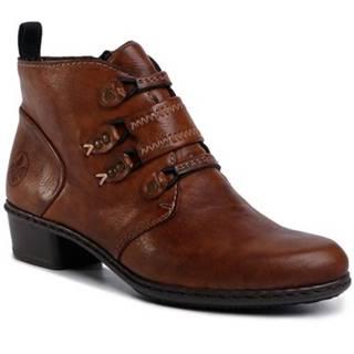Šnurovacia obuv Rieker Y0792-24 Imitácia kože/-Imitácia kože