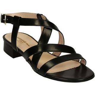 Sandále Leonardo Shoes  3126 VITELLO NERO