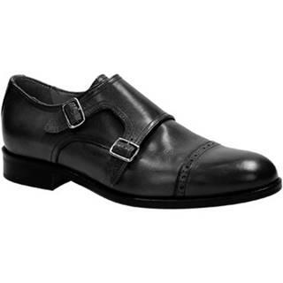 Mokasíny Leonardo Shoes  07169/FORMA 40 FULL NERO