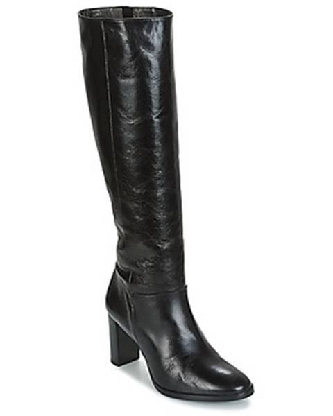 Čierne čižmy France Mode