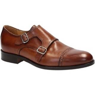 Mokasíny Leonardo Shoes  07169/FORMA 40 FULL NOCE